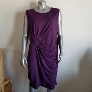 Enfocus Studio size 20W Purple Sparkly Dress